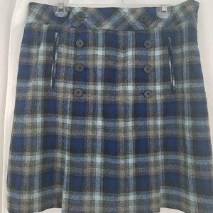 Loft Plaid Skirt Size 12